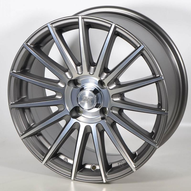 RACER MONZA 6.5X15 4X100 ET35 73.1 POLISHED ANTHRACITE